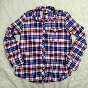 UO BGD boyfriend fit plaid button down LS shirt
